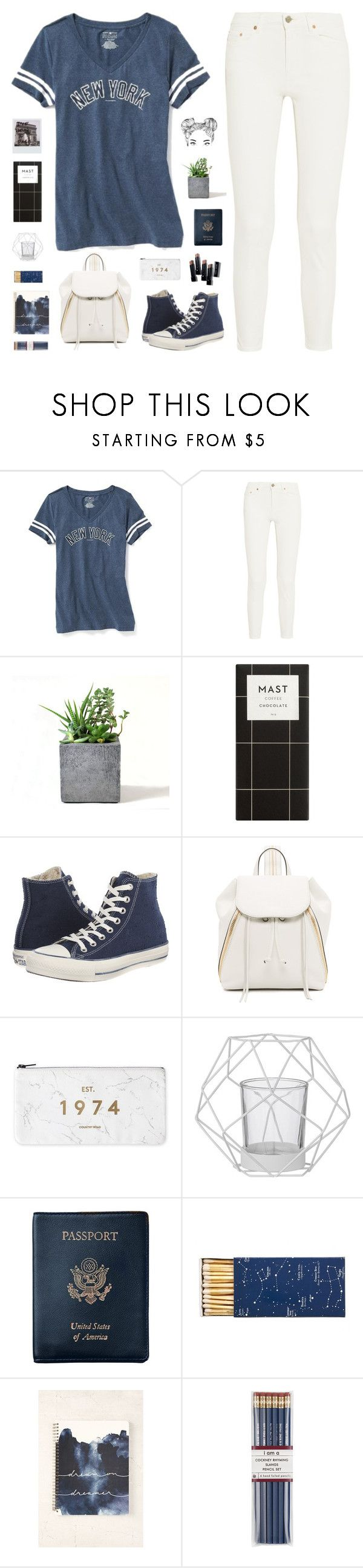 """""""#556 The Varsity Player"""" by everydaydiscovery ❤ liked on Polyvore featuring Old Navy, Acne Studios, Rough Fusion, Converse, Rebecca Minkoff, Bloomingville, Royce Leather, Jayson Home, Urban Outfitters and i am a"""
