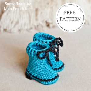 Mon Petit Violon | Free pdf pattern for cute booties