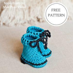 Mon Petit Violon | Free pdf pattern for cute booties