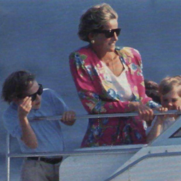 Beautiful photo of the Princess aboard a yacht