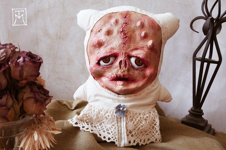 *SOLD 'Sinni Sophisticato' Mixed media and latex horror art doll- Talissa Mehringer © 2014