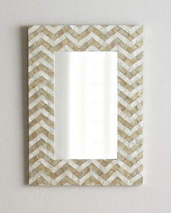 NM EXCLUSIVE Chevron Pattern Mirror - Horchow