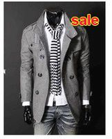Wholesale-Big Fashion Mens Wool Trench Coat Winter Jacket Overcoat Outerwear Jackets Slim Pea Coat Man High Quality Europe Stylish Spring Online with $69.98/Piece on Baxianhua's Store | DHgate.com