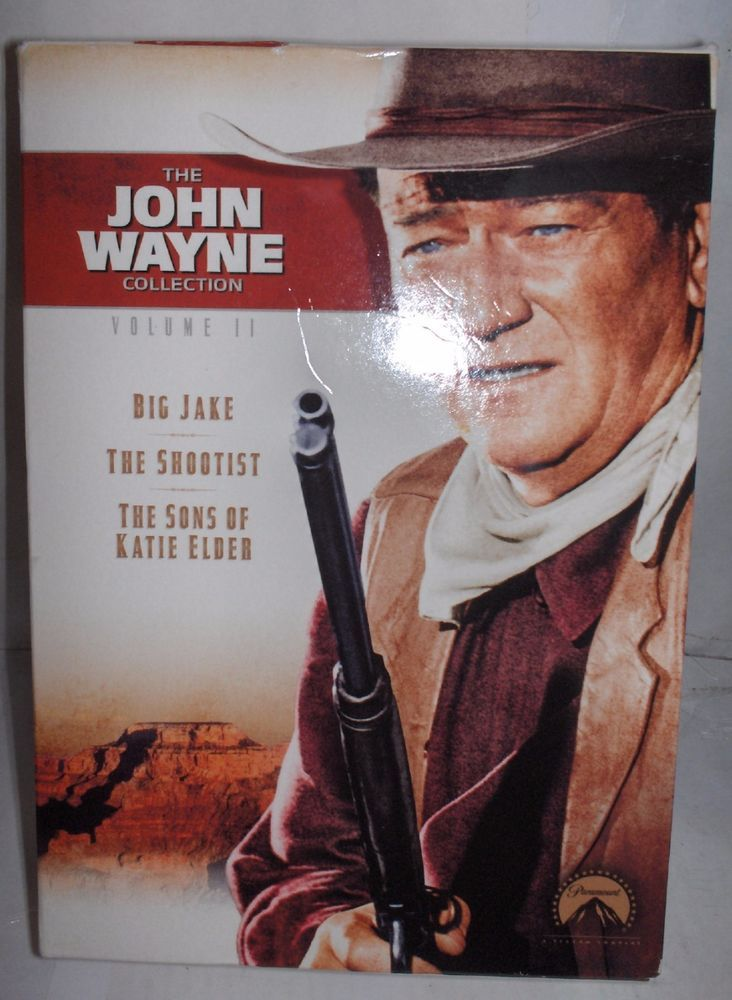 JOHN WAYNE VOLUME II 3 DVD SET WIDESCREEN FORMAT BIG JAKE,SHOOTIST,KATIE ELDER