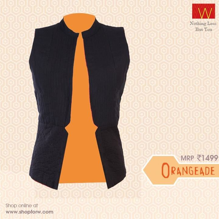 How about adding something on top for that #zing factor in your look with this #jacket?  Shop #online now : http://shopforw.com/categoryProducts.php?catID=151&maincatName=In%20Stores&smallCat=Kurta