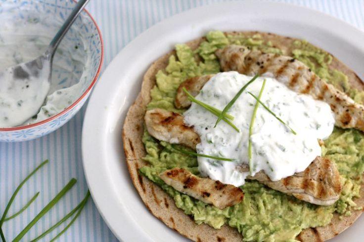 5 or less: romige wraps met kip en avocado