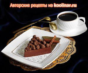 Шоколадная помадка с чайной крошкой и бергамотовым сиропом на основе Earl Grey.