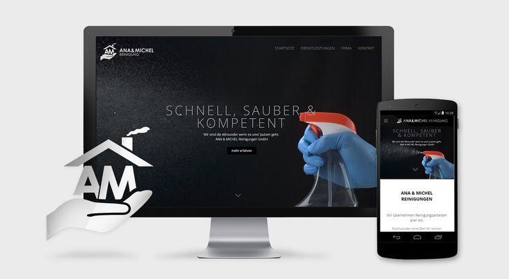 Website Onepage für neue Reinigungsfirma - www.resign.ch/projekte/2015/ana-michel-reinigung-onepage-webdesign.php
