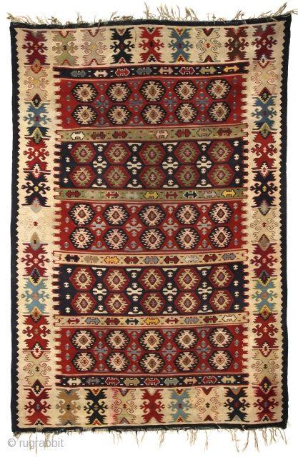 Very early Sarköy Kilim, mid. 19th cent,