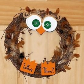This little owl will happily great everyone who comes to your door.