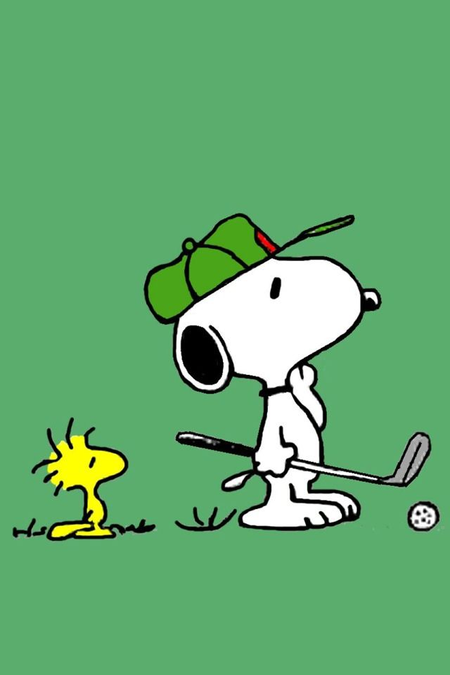 Snoopy and Woodstock... Golfing