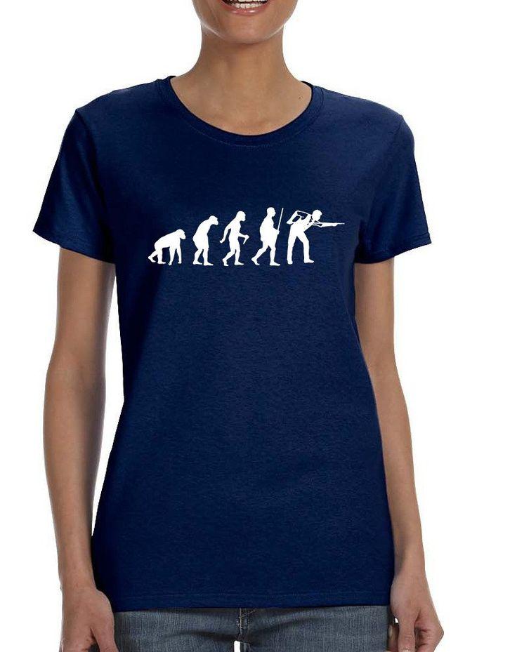 Women's T Shirt Pool Snooker Evolution Cool Billiards Tee  #tshirt #women #pool #cool #trendy