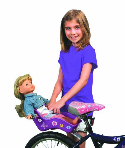 OMG! How cute! A Doll Seat for Your Bike! #HottestToys ♥ Best Toys for 7 Year Old Girls - Best Gifts #TopToys
