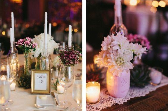 Bohemian meets modern wedding decor. Photos by Kat Braman via Wedding Chicks