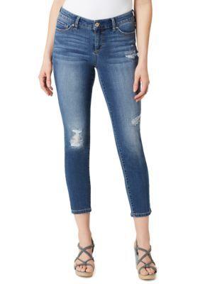 Vintage America Blues Women's Boho Skinny Ankle Jean - Blue - 12 Average