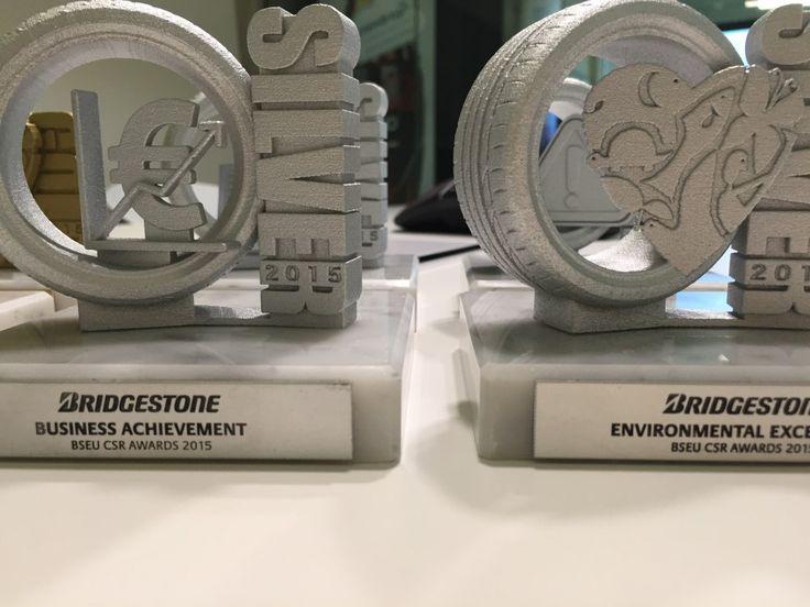 Gemaco - Unides - Bridgestone - corporate 3D printed trophies 6