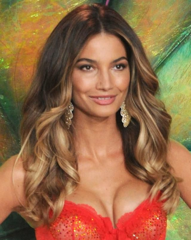 20 Gorgeous Hairstyles for Brunettes: Lily Aldridge's Ombré Hairstyle