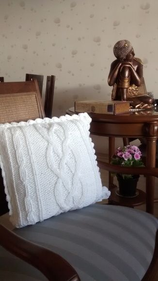 almofada de tricô                                                                                                                                                      Mais
