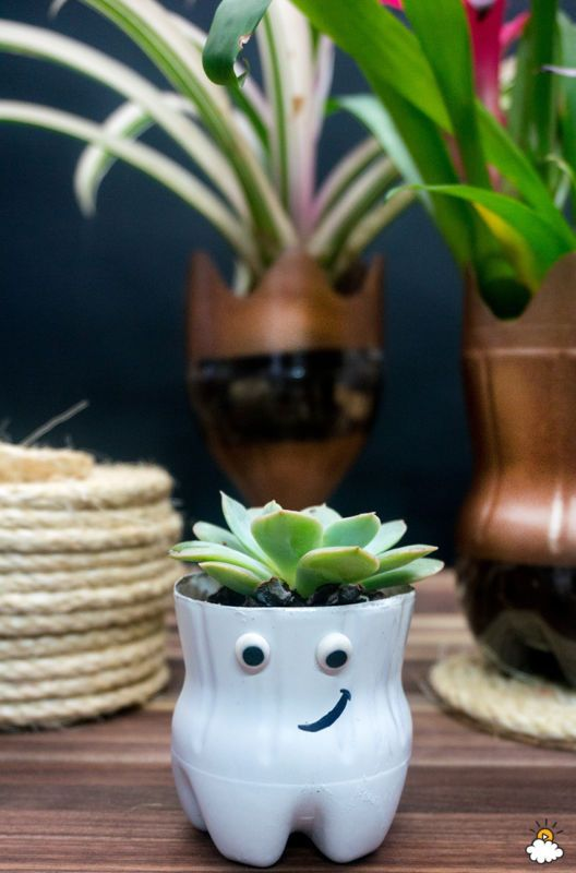 25 best ideas about plastic bottle crafts on pinterest for Flower pot making with waste material