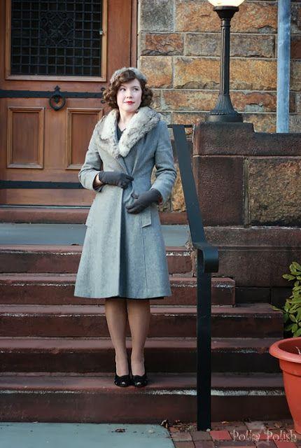 Polka Polish: Matchy-matchy - oh I'd love a coat like this!