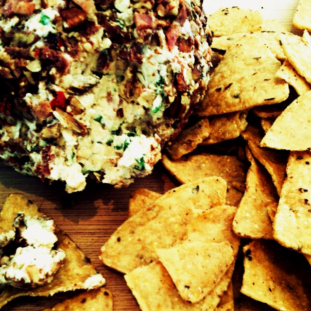 My attempt at a Bacon, Chili Cheese Ball inspired by homesicktexan.blogspot.com