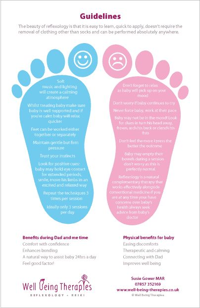 "Pinner says: ""Reflexology for babies! Just tried this and my cranky teething son is sleeping!"""