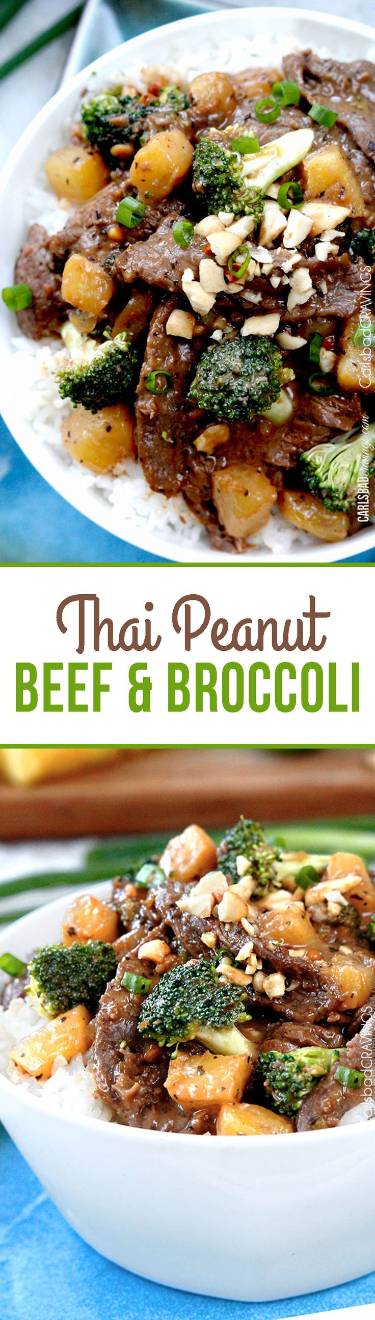 If you like Beef and Broccoli and Thai Peanut Sauce - you are going to LOVE this explosion of flavor!. #thairecipes #beefandbroccoli #broccolibeef #peanutsauce