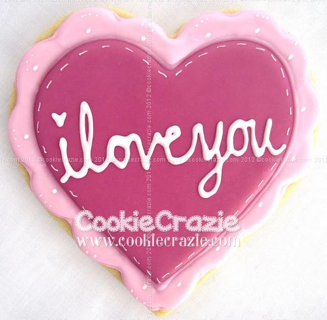 Simple Valentine Cookie decorating tutorial