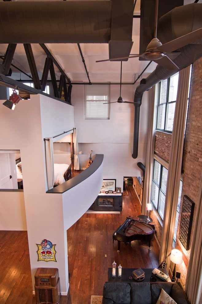 Striking Chicago #Loft Artistically Displaying the Owners Guitar Collection
