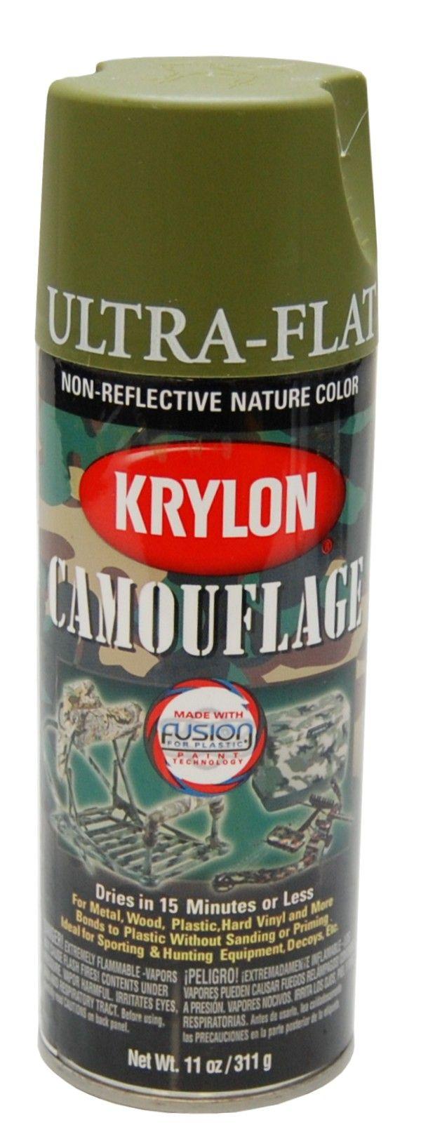 krylon camouflage woodland green fusion spray spray paint. Black Bedroom Furniture Sets. Home Design Ideas