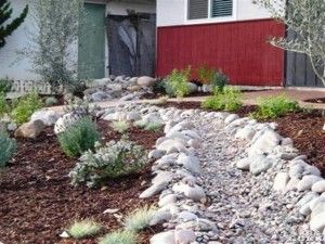 tutorial for creating dry stream bed for a french drain