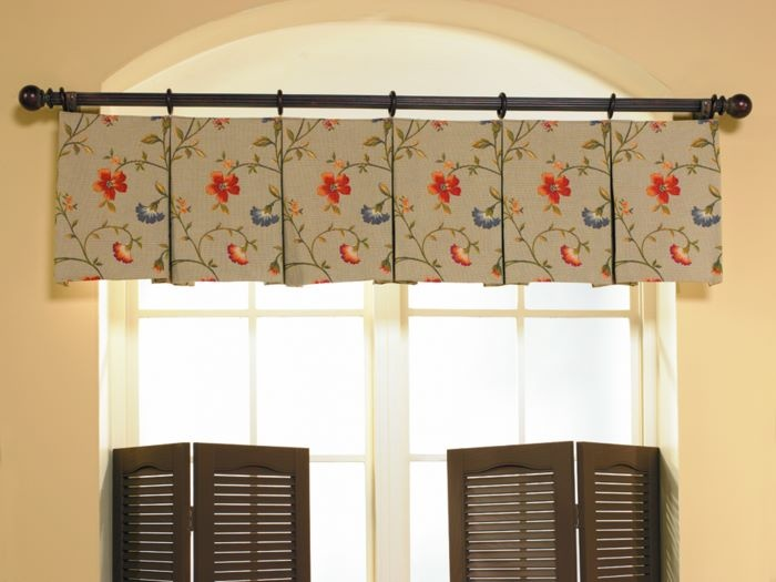 Inverted Pleat Valance Great Job Centering The Pattern