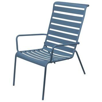 Ligstoel Tuin Gamma.Loungestoel Metaal Blauw Tuinstoelen Tuinmeubelen Tuin Gamma