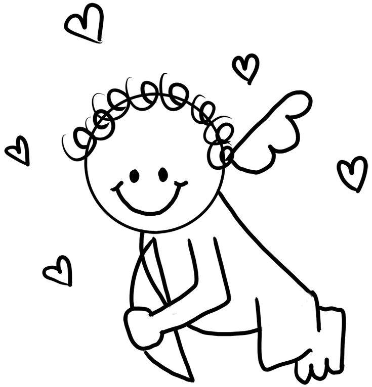 Game - Pin the heart on Cupid | Cupid drawing, Easy ...