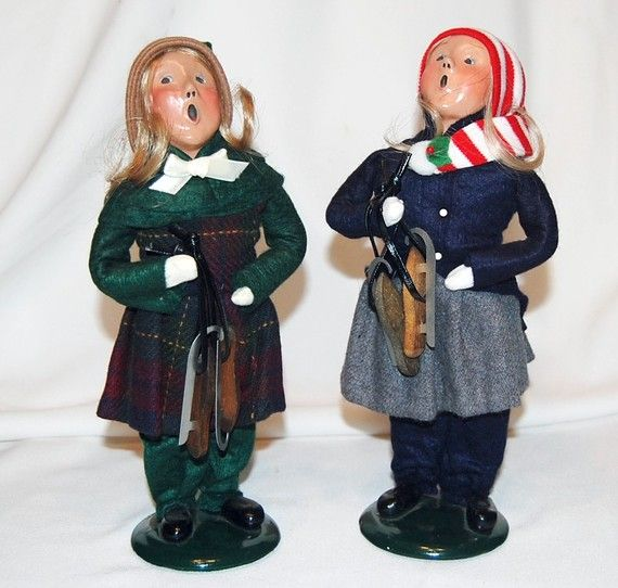 Singing Carolers Candleholders Figurines Vintage By: Christmas Carolers, Numbered
