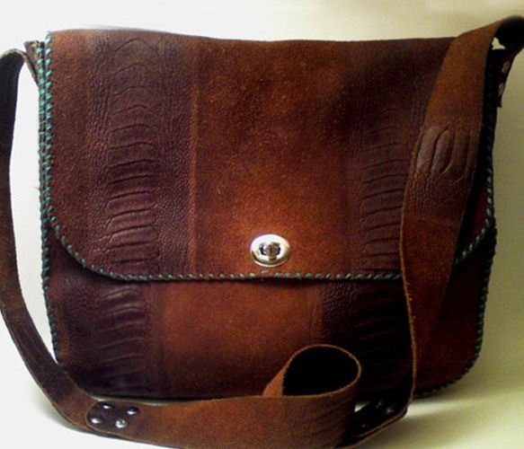 Handmade Leather Messenger Bag I think having a leather bag draped over