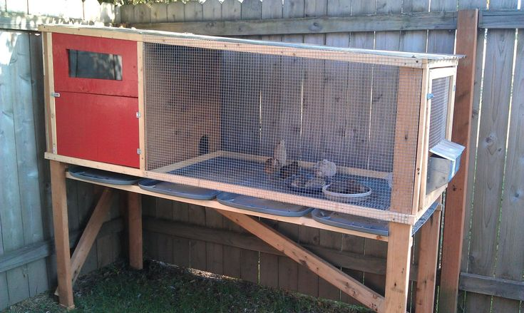 Homemade Chicken Cages   Love the idea of the lids to catch the droppings. I have several of ...