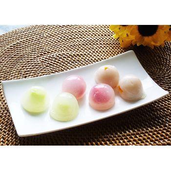 クミタス レシピ フルーツの水まんじゅう(メロン・ココナッツマンゴー・ラズベリー)