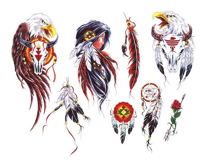 Les 25 meilleures id es de la cat gorie tatouages indiens sur pinterest tatouages am rindiens - Tatouage indien signification ...