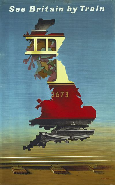 See Britain by train #vintage #travel #poster #UK