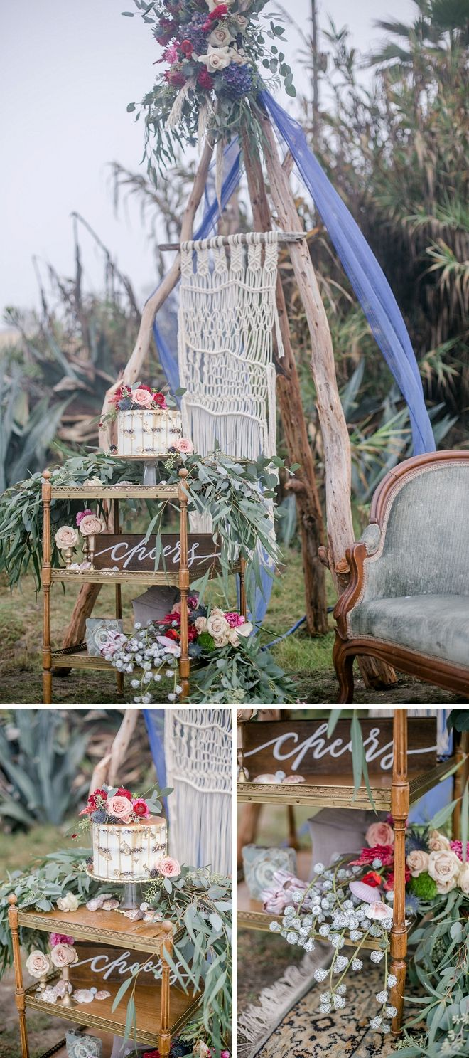 How amazing is this styled cake cart?! We're in LOVE!