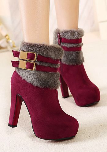 Cute Belt Buckle Martin Booties: