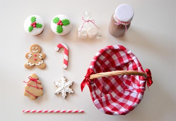 Cestitas dulces de Navidad