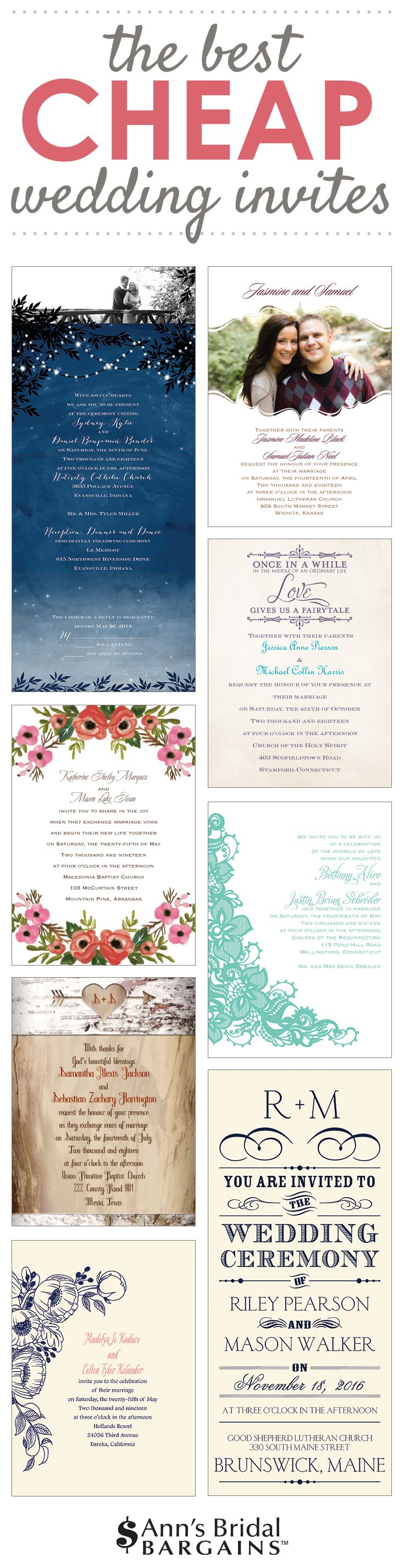 Fact: You don't have to spend hundreds of dollars to get your dream wedding invites. Quality printing. Fab design. Less cash.