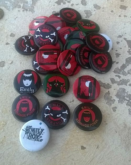 Buy 26 x EMILY the STRANGE Button Badges. 2.5 Cm Diameter. Some Duplicates. for R1.00