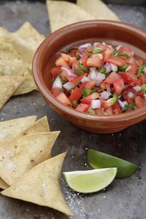 Making salsa at home is easy!  Follow these simple steps to make your own.: Mix it up