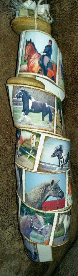 Houten klos paarden