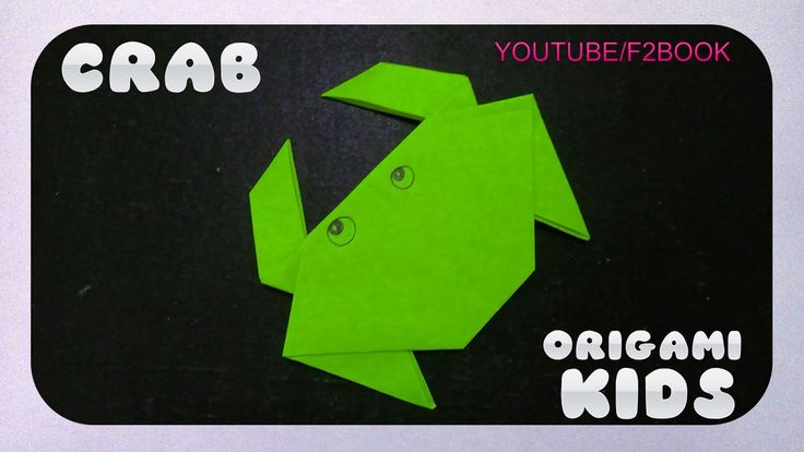 Origami Animals ✿ Folding Instructions ✿ Easy Origami Crab ✿ F2BOOK Vide...