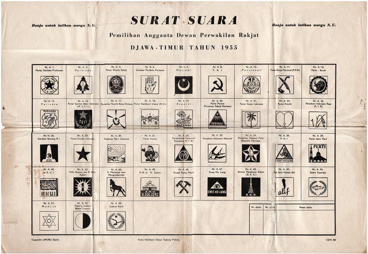 Lembar Kertas Pemilihan Umum Indonesia 1955