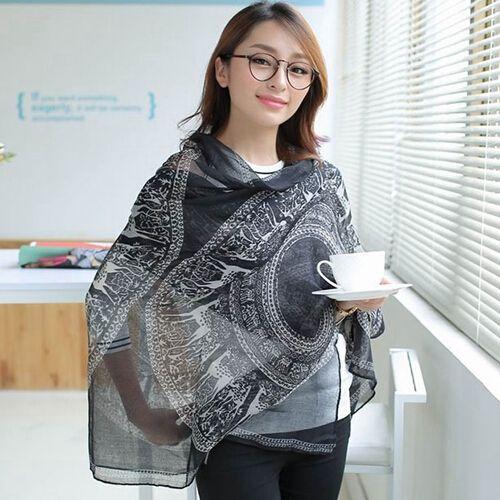 Рождественские подарки бренд дизайнер новый горячий мода геометрическая круглый симпатичные рождественский олень шаблон шарф платок для женщин 2014 PD25